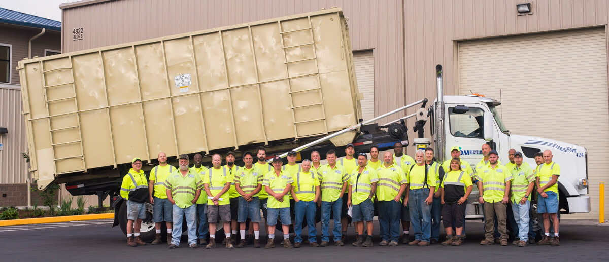 Photo of DM Recycling employees.